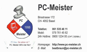 PC-MEISTER Beat Braun Basel - Support & Hilfe